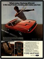 1973 Ford Mustang New Metal Sign: Mach 1 Model Showing