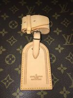Louis Vuitton Name Tag w Strap for Luggage Keepall Handle Keeper - 1 Set