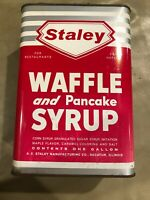 VINTAGE STALEY MAPLE SYRUP CAN/TIN 1 GALLON Metal Waffle And Pancake