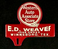 Vintage WESTERN AUTO ASSOCIATE STORE E. D. WEAVER Rare Old Advertising Sign 50s