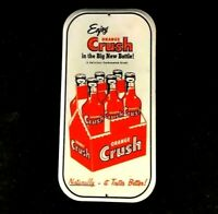 Vintage ORANGE CRUSH NATURALLY IT TASTES BETTER Rare Old Advertising Metal Sign
