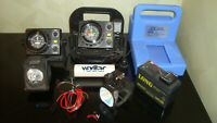 Lot of 2 Vexilar FL-8 SLT and Other Acccesories Ice Fishing Fish Finder
