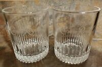 2019 Crown Royal Whiskey Glasses Set of 2 Lowball