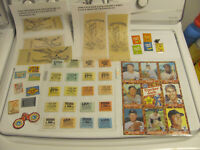37 PIECE RARE CRACKER JACK ITEMS-CHALICE, IRON-ONS, BOOKS, MICKEY MANTLE BB CARD