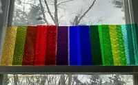 Stained Glass Lot #4, Premium Colors Textures Transparent Cathedral 12 Pieces