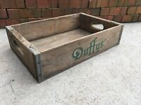 Vintage Wooden Soda Crate Duffys Beverages Denver Colorado Wood Advertising Box