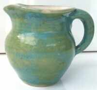 Pisgah Forest Bulbous Creamer Covered in Gorgeous Blue and Green Glaze
