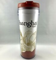 Starbucks Tumbler Shanghai China 2004 12 oz Travel Flip Top Coffee Mug Cup Red