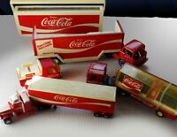 VINTAGE COKE Coca~Cola Collection 4 TOY TRUCKS Super King & Foot Long ISIS RADIO