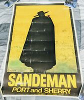 SANDEMAN PORT AND SHERRY WINE 2003 G. MASSIOT ART 35 X 24 POSTER MAN CAVE