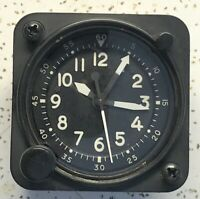 Waltham Watch Co A-13A-2 Aircraft Chrono Clock 22322-S-ET-12 White Numbers Hands
