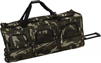 40quot; Rolling Duffle Bag Soft Sided Travel Luggage with Wheels Camouflage X Large