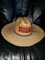 VERY RARE! Old Authentic PFISTER HYBRIDS TRACTOR STRAW HAT seed corn farm sign