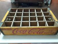 NICE Vintage Retro Yellow Coca Cola Coke Wood Crate Case ROCKVILLE IND.