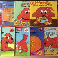 Lot of 8 Clifford The Big Red Dog Bridwell Children Kids Books MIX UNSORTED $11.99