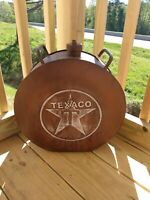 Antique Looking Texaco Round Metal Gasoline Can Oil Gas Advertising