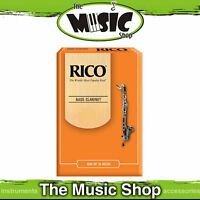 Rico 3 Strength Bass Clarinet Reeds - Box of 10  - Reed Pack of 10 - REA1030