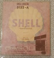 Vintage NOS SHELL 5152-A Motor Oil Gas Pump Service Station Decal Sticker Unused