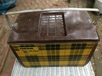 Vintage Poloron Tartan Insulated Ice Chest Cooler