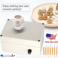 Mini Pottery Wheel Machine 2000RPM Electric Ceramics DIY Clay Tool With Gun US