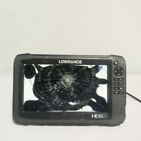 Lowrance HDS 9 Touch GEN 3 GPSFishfinder Cracked Screen Powers on SOLD AS IS