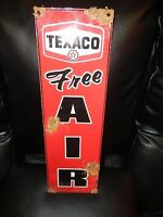 Antique style-vintage look Texaco free air dealer service station gas pump sign
