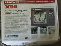 Lowrance X96 Sonar Fish Depth Finder NO TRANSDUCER