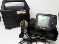 Humminbird Wide One Hundred 100 Portable Fish Finder with Carrying Case