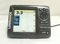 Lowrance Elite-5X HDI Fishfinder Powers on SOLD AS IS