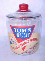 Tom's Peanut 25 years Counter Store Jar, Lance Gordon Display