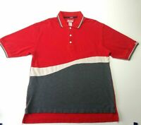 Everything Coca Cola Mens Medium Red White Gray Classic Polo Rugby Shirt Coke
