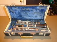 Vintage Robt. Burnay Paris France Clarinet w/ Case School Band Student Robert