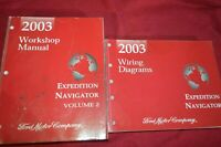 2003 Ford Expedition Lincoln Navigator Dealer Wiring Diagram Manual WSVA