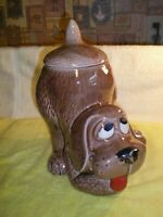 McCoy Pottery USA Puppy Cookie Jar Vintage Brown Hound Dog 0272 FR/SHP