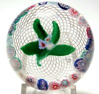 Antique New England Glass Company Millefiori Nosegay Paperweight with Garland