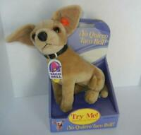 1998 Yo Quiero Taco Bell Stuffed Talking Chihuahua Dog 4 Phrases Fun 4 All