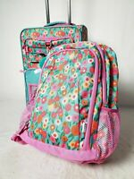 $160 Crckt Kids 2-Piece Printed Carry-On Suitcase Luggage & Backpack Set Pink