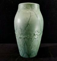 Antique Hampshire Pottery Vase #90 Matte Green Variegated Robertson Arts