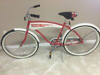 Vintage Coca Cola bicycle. Good Cond. Red And White