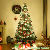 7Ft Artificial PVC Christmas Tree W/Stand Holiday Season Home Outdoor Green