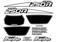 Decals for a 1988 Honda TRX 250r 4-wheeler    TRX250r TRX 250r