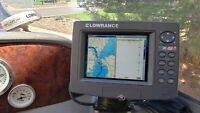 Lowrance LCX-19C, mounting bracket, professional waypoints on SD card