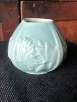 Vintage McCoy Pottery Green Butterfly Vase EXC