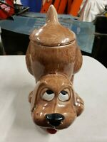 Vintage McCoy Thinking Dog Cookie Jar 0272 Browne Hound Pottery