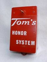 Original 1940 Tom's Peanut Coin Honor System Money Box, Jar Rack,Lance Gordons