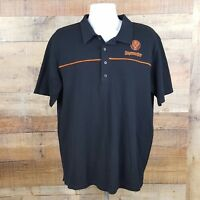 Jagermeister Polo Shirt Mens Size L Black TF3