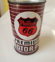 Vintage Phillips 66  Oil Can Tin Penny Coin Bank