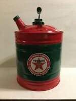 TEXACO Vintage GAS Kerosene CAN Station Oil Co Sign 2 3 Gallon Spout 2 LIDS USA