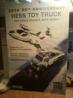 2014 50th Anniversary  Hess Toy Truck Promotional Sign*