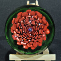 Art Glass Floral Paper Weight by Trey Cornette
